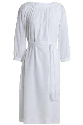 VANESSA SEWARD Belted Swiss-dot cotton dress