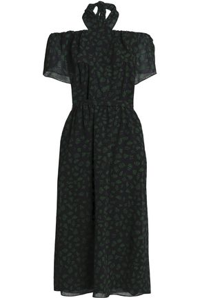 VANESSA SEWARD Off-the-shoulder printed wool-gauze dress