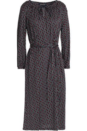 VANESSA SEWARD Belted printed silk-jersey dress