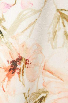 HAUTE HIPPIE Floral-print crepe de chine top