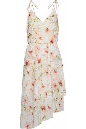 HAUTE HIPPIE Wrap-effect floral-print crepe de chine dress