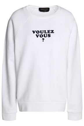 VANESSA SEWARD Flocked cotton-blend terry sweatshirt