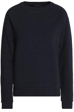 VANESSA SEWARD Embellished cotton-blend terry sweatshirt