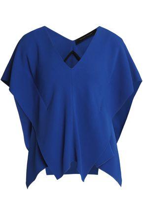 ROLAND MOURET Draped crepe blouse