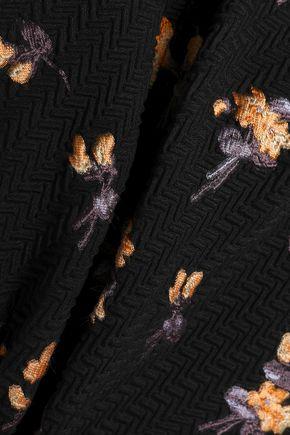 ROLAND MOURET Colburn one-shoulder fil coupé cloqué and cady jumpsuit