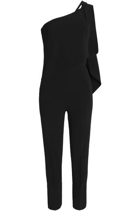 ROLAND MOURET Carlton one-shoulder crepe jumpsuit