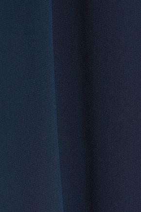 HAUTE HIPPIE Ring-embellished cutout chiffon mini dress