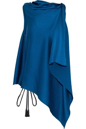 ROLAND MOURET Tavistock draped hammered silk-satin top
