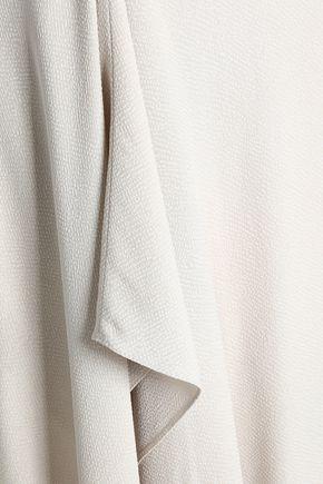 ROLAND MOURET Cutout draped crepe-cloqué maxi dress