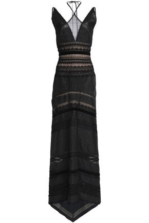 Paneled Cotton Blend Lace Gown by Roland Mouret