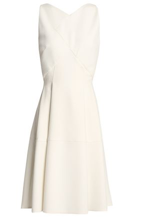 ROLAND MOURET Pleated crepe dress