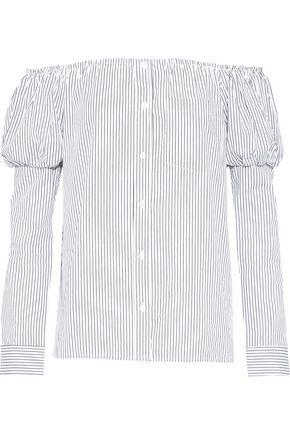 BAILEY 44 Off-the-shoulder striped poplin top
