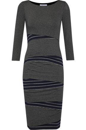 BAILEY 44 Striped stretch-knit dress