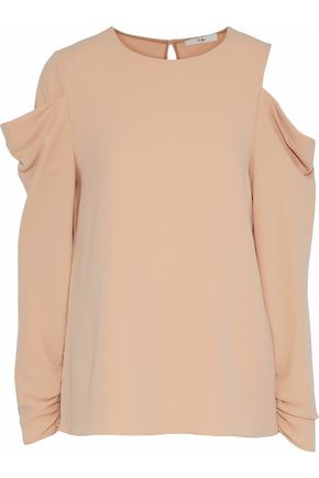 TIBI Draped cutout crepe top
