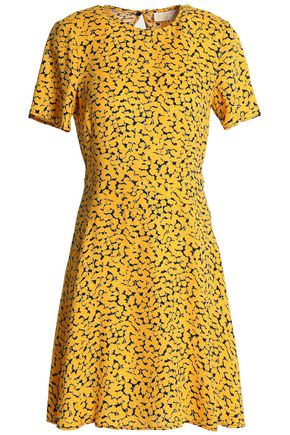 MICHAEL MICHAEL KORS Printed silk crepe de chine mini dress