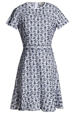 MICHAEL MICHAEL KORS Fluted broderie anglaise cotton dress