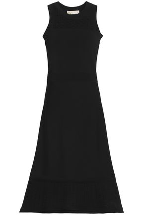 MICHAEL MICHAEL KORS Flared pointelle-knit dress