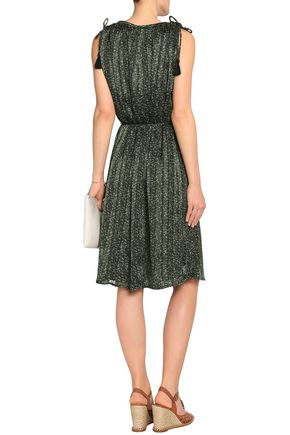 MICHAEL MICHAEL KORS Gathered floral-print crepe dress