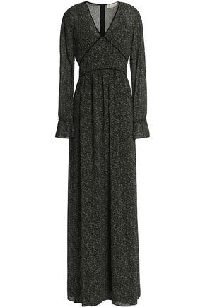 MICHAEL MICHAEL KORS Gathered floral-print crepe maxi dress
