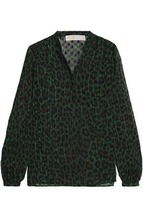 MICHAEL MICHAEL KORS Leopard-print fil coupé crepe de chine blouse