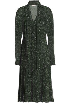 MICHAEL MICHAEL KORS Bow-detailed printed crepe dress