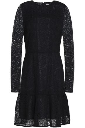 MICHAEL MICHAEL KORS Fluted guipure lace mini dress