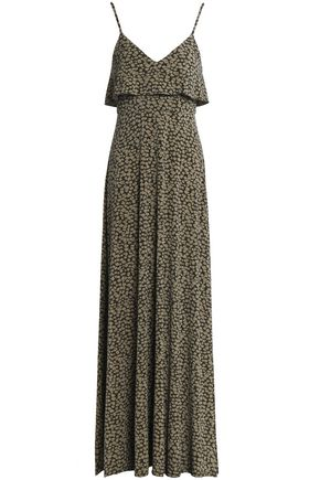 MICHAEL MICHAEL KORS Ruffled printed stretch-jersey maxi dress