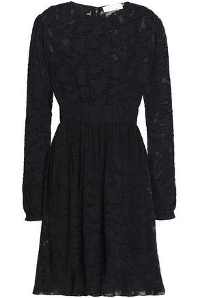 MICHAEL MICHAEL KORS Gathered fil coupé chiffon mini dress