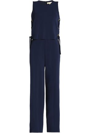 MICHAEL MICHAEL KORS Lace-up stretch-jersey jumpsuit
