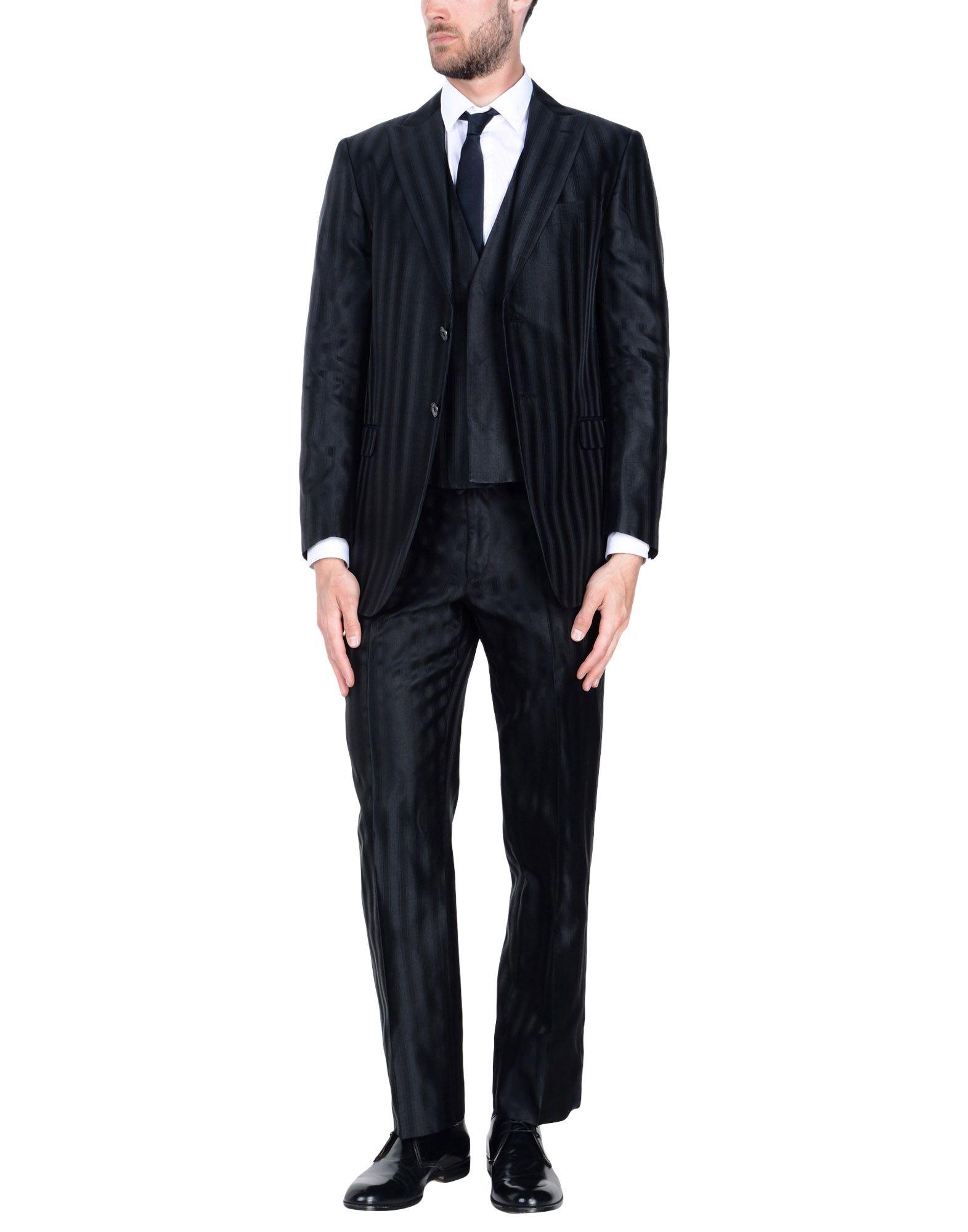 《送料無料》PAL ZILERI CERIMONIA メンズ スーツ ブラック 46 シルク 100%