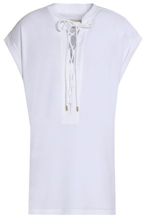 MICHAEL MICHAEL KORS Lace-up crepe top
