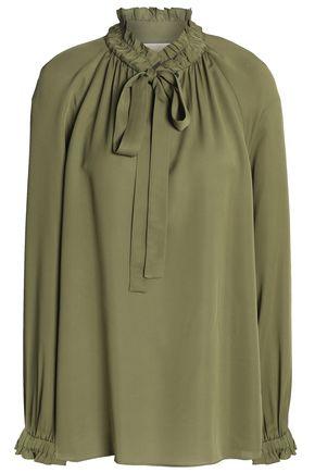 MICHAEL MICHAEL KORS Pussy-bow silk crepe de chine blouse
