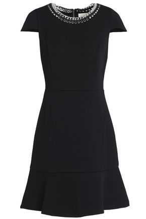 MICHAEL MICHAEL KORS Embellished fluted jacquard mini dress