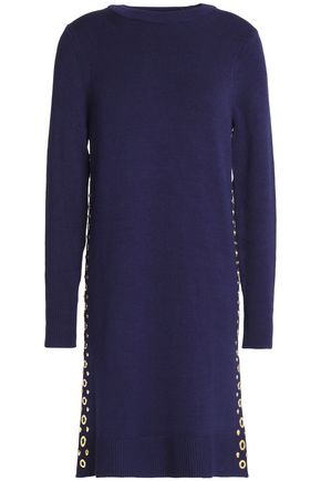 MICHAEL MICHAEL KORS Embellished stretch-knit mini dress