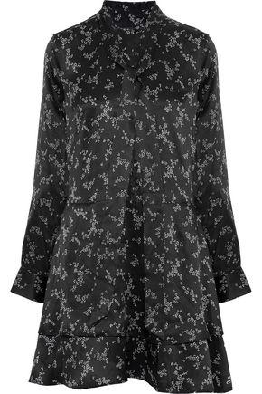 EQUIPMENT Pussy-bow floral-print silk-satin mini dress