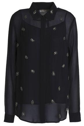 MICHAEL MICHAEL KORS Bead-embellished georgette shirt