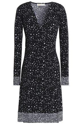 MICHAEL MICHAEL KORS Wrap-effect floral-print jersey dress