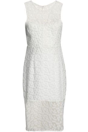 MILLY Embroidered gauze dress
