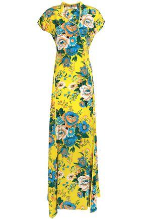 DIANE VON FURSTENBERG Wrap-effect floral-print silk maxi dress