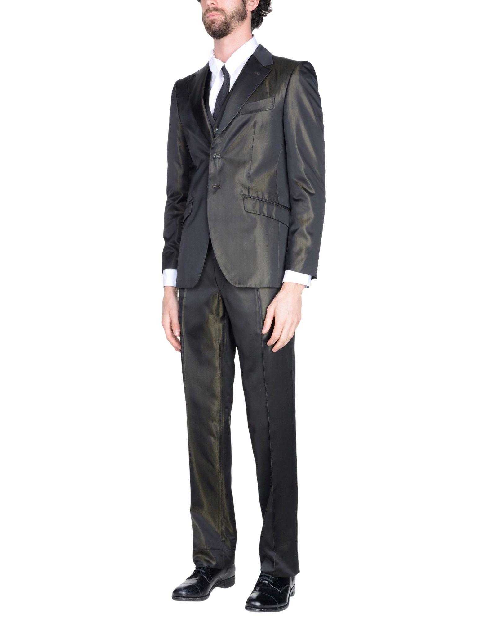 《送料無料》CARLO PIGNATELLI CERIMONIA メンズ スーツ ダークブラウン 50 アセテート 67% / シルク 33%