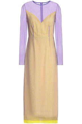 DIANE VON FURSTENBERG Cotton-blend lace midi dress