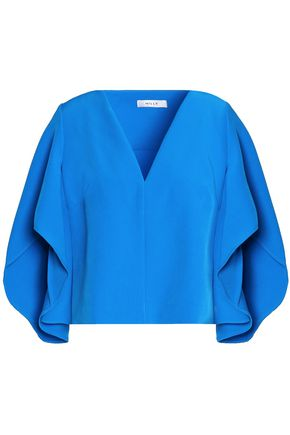 MILLY Draped cady blouse