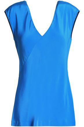 DIANE VON FURSTENBERG Silk-satin blouse