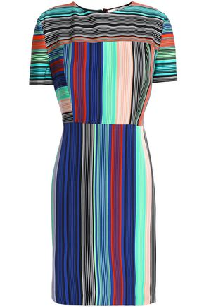 DIANE VON FURSTENBERG Striped crepe mini dress