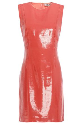 DIANE VON FURSTENBERG Sequined silk crepe de chine mini dress