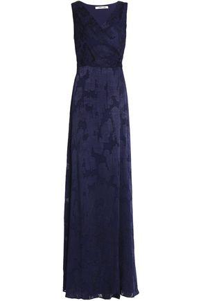 DIANE VON FURSTENBERG Wrap-effect fil coupé chiffon wrap gown