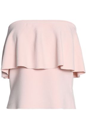 MILLY Ruffled stretch-ponte top