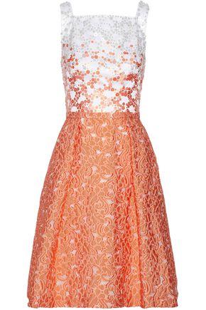 MIKAEL AGHAL Embellished jacquard fil coupé dress