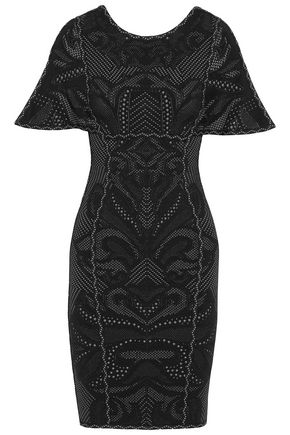 HERVÉ LÉGER Janie jacquard-knit mini dress