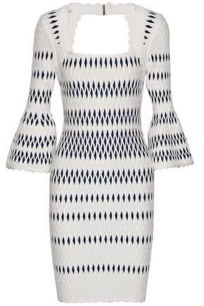 HERVÉ LÉGER Stretch jacquard-knit dress